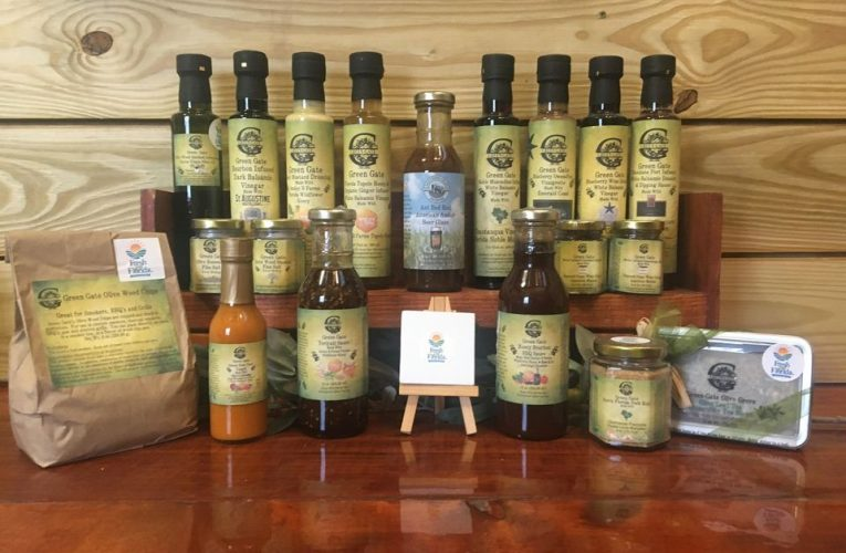 Green Gate Olive Grove is at The Lazy Acres Family Farm